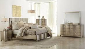 Klaussner Bedroom Furniture Serenade Glamour 4 Piece Panel Bedroom Set In Shimmering Wood