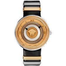 versace men s v metal icon watch leather band jewelry versace men s v metal icon watch