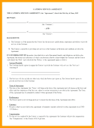 Example Of Catering Contract Catering Service Agreement Template Example Of A Level