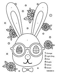 The cute & adorable easter bunny is one of the most enduring symbols associated with the. 3 Color By Number Easter Printables To Keep Your Kids Entertained