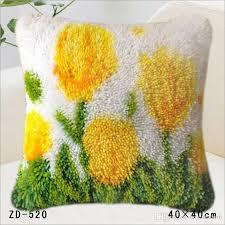 mat diy set carpet latch hook rug kits pillowcase carpet home pillow carpet crochet hooks yarn hook rug yellow flowers cushion mat outdoor furniture cushion