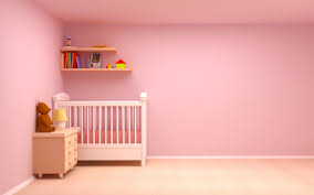 pink wall paintSweet pink girl baby nursery rooms decoration with rectangular