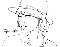 Taylor Swift Coloring Sheets Ravishing Taylor Swift Coloring Pages