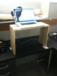 Quick and free ways to convert an existing desk into a standing desk.