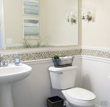 chair rail bathroom. Mosaic Border Chair Rail Bathroom O