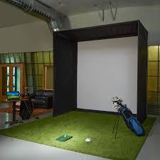 carl s 10x10x5 ft golf simulator enclosure