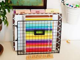 Office desk organization ideas Small Create Mail Organizer With File Folders Hgtvcom 10 Home Office Hacks To Get You Organized Now Hgtv