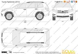 The-Blueprints.com - Vector Drawing - Toyota Highlander