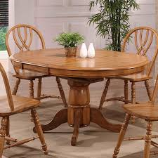 oak pedestal dining table hilale bayberry 44 inch round pedestal dining table oak hayneedle