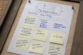 Weekly Menu For One How To Create A Weekly Menu Board Bettycrocker Com