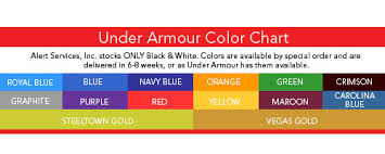 Under Armour Color Chart Under Armour Heat Gear T Shirt 39
