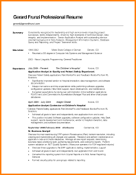 7 Resume Summary Samples Activo Holidays