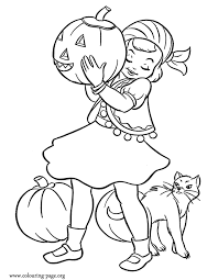 Small Picture Halloween Little girl dressed as a gypsy for Halloween coloring page