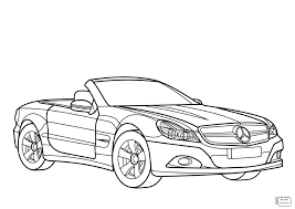 Car Coloring Pages Mercedes