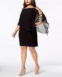 Msk Dresses Size Chart Plus Size Embellished Chiffon Overlay Dress