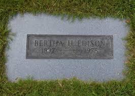 Bertha H. Edison (1897-1975) - Find A Grave Memorial