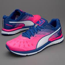 puma shoes pink and blue. puma womens speed 300 ignite - knockout pink-true blue-puma white shoes pink and blue o