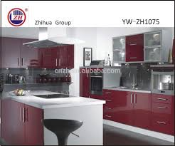 Modern Acrylic High Glossy Vinous Color Kitchen Cabinets Buy