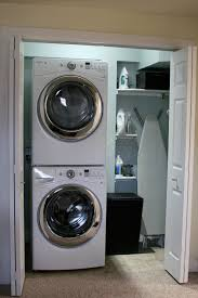 stackable washing machine. Cool Laundry Room Design With Stackable Washer And Dryer Floating Shelves Washing Machine D