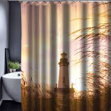 lighthouse curtains nautical decor for your home best