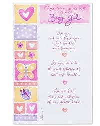 American Greetings Perfect Gift New Baby Girl Congratulations Card With Foil