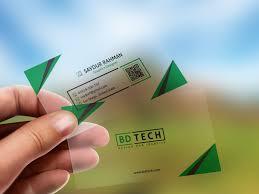 Translucent Plastic Business Card Free Psd Mockup Free Mockup