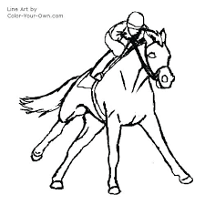 Race Horse Coloring Pages To Print Galloping Racehorse Coloring Page