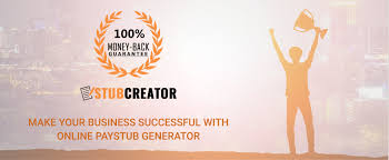 Online Pay Stub Generator Make Your Business Successful With Online Paystub Generator Stub