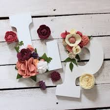 flower letters wall decor baby girl nursery decor letters t within wooden flower wall art