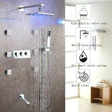 change shower faucets bath shower faucet set easy installation shower system led rain shower head hot