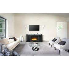 napoleon media storage center stand with electric fireplace white