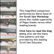 Universal Scroll Saw Blade Chart Spiral Tooth Scrollsaw Blades Buy Scroll Saw Blades Bear
