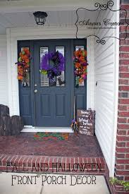 Favorite Broomstick Make Switch To Thanksgiving Easy And Swags And Sided  Sign With Halloween Front Porch