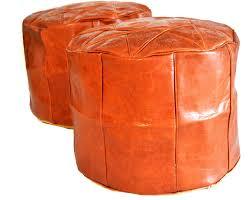 leather pouf round leather ottoman gray jpg