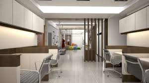 office reception interior. Interior White Solid Wood Tables And Dividers Minimalist Office Reception Outer View For Formal Beautiful Silver