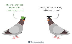 3 testimony box synonyms similar words