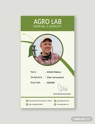 Identification Card Samples Free Agriculture Identity Card Template Word Psd