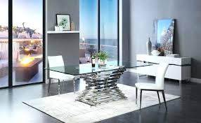 modern glass dining table large size of luxury extendable glass dining metal bronze parson chair with modern glass dining table