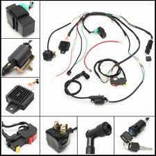 atv harness ebay 110cc chinese atv wiring diagram 50 110 125cc wiring harness loom solenoid coil rectifier cdi atv quad dirt bike