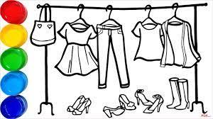 40+ Tranh tô màu quần áo đa dạng mẫu cho bé tập tô