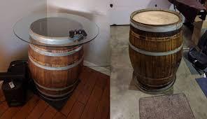 make wine barrel furniture. diy retropie arcade table made from old wine barrel make furniture