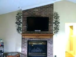 how to mount a on brick wall mounting fireplace flat above hang tv hide cables mou