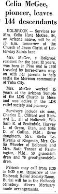 Obituary - Celia Hunt McGee 26 Jan 1969 - Newspapers.com