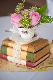 old books centerpieces