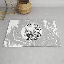 marble circle minimal design suminagashi japanese marbling minimalist art grey black and white rug
