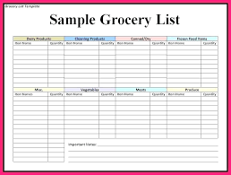 Grocery List Prices Grocery Price List Template Naomijorge Co