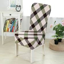 plaid dining chair cover spandex stretch elastic chair covers for weddings universal removable banquet kitchen chair