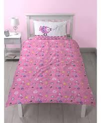 peppa pig happy single duvet cover bedding set