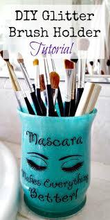 makeup glitter brush holder diy