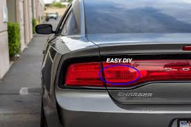 Dodge Charger Back Lights Tail Light Red Out Overlays 2011 2014 Dodge Charger